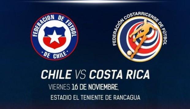 Finalizado: Chile 2-3 Costa Rica